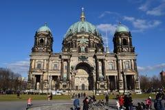 柏林人dom柏林大教堂惊人的荣耀 免版税库存图片