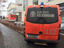 柏林人Feuerwehr消防队卡车 免版税库存图片
