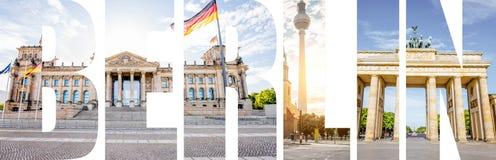 柏林信件用图片填装了从柏林市 免版税库存照片