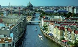 柏林全景地平线都市风景,德国 免版税库存图片
