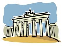 柏林勃兰登堡门 向量例证