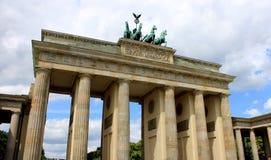 柏林勃兰登堡门Brandenburger突岩,柏林,德国 免版税图库摄影