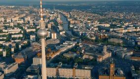 柏林和电视塔都市风景  股票录像