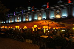 柏林咖啡馆场面 免版税图库摄影
