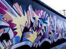 柏林围墙的曼哈顿东区的画廊在柏林德国 免版税图库摄影
