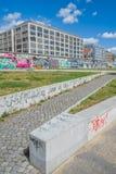 柏林围墙街道画,柏林,德国 库存照片