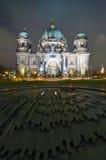 柏林圆顶晚上 免版税库存图片