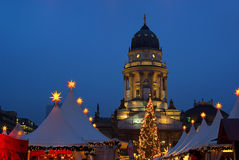 柏林圣诞节市场Gendarmenmarkt 免版税图库摄影