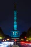 柏林在原始的照明的胜利专栏 库存照片