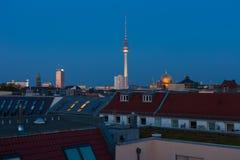 柏林地平线和房子 免版税库存图片