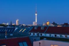 柏林地平线和房子 免版税库存照片