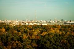 柏林地平线晚上光的 免版税库存照片