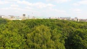 柏林地平线鸟瞰图从6月17日路,德国 库存照片