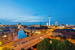 柏林地平线黄昏的 库存图片