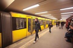 柏林地铁 库存照片