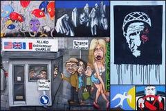 柏林墙拼贴画 库存图片