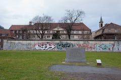 柏林墙纪念碑的遗骸 免版税库存照片
