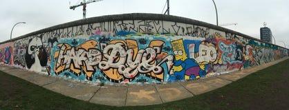 柏林墙,热尔迈, Allemagne, Le mur de柏林 免版税库存照片