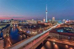 柏林多数普遍的lansdascape视图 免版税库存照片