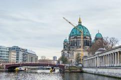 柏林大教堂和柏林博物馆岛在柏林 库存照片