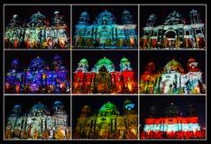 柏林大教堂拼贴画 库存照片