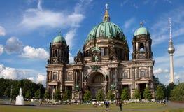 柏林大教堂的圆顶 库存照片