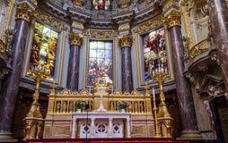 柏林大教堂的圆顶 库存图片
