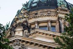 柏林大教堂门面  图库摄影
