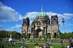 柏林大教堂,在柏林市的圆顶 图库摄影
