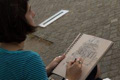 柏林大教堂绘画在柏林,德国 免版税库存图片