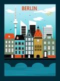 柏林市 也corel凹道例证向量 免版税库存照片