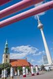 柏林广场,德国 库存照片