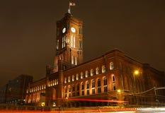 柏林德国大厅rathaus红色rotes城镇 库存照片