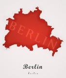 柏林德国艺术地图 免版税图库摄影