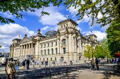 柏林德国5月04日2015年Reichstag 免版税库存照片