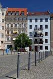 柏林德国 老市中心的街道视图 免版税库存图片