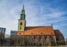 柏林教会玛丽st 德国 库存图片