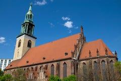 柏林教会玛丽st 免版税库存图片
