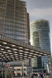 柏林波茨坦广场S-Bahn驻地标志 图库摄影