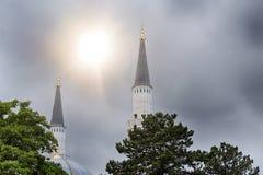 柏林清真寺的尖塔 免版税库存照片