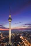 柏林电视塔Alexanderplatz的 库存照片