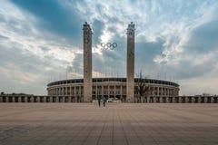 柏林的奥林匹亚体育场,柏林外视图  库存图片