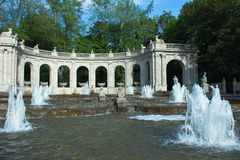 柏林神仙的喷泉friedrichshain 库存照片