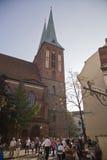 柏林老尼古拉教会 免版税库存照片