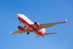 柏林航空在机场的航行器着陆 免版税图库摄影