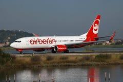 柏林航空波音737-800 免版税库存图片
