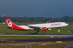 柏林航空空中客车A330 库存图片