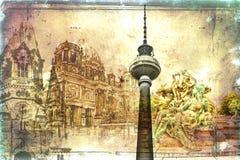柏林艺术纹理例证 库存照片