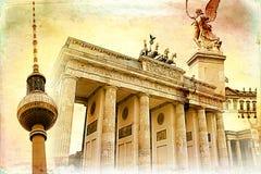 柏林艺术纹理例证 免版税库存图片