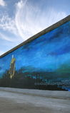 柏林街道画老墙壁 免版税库存照片